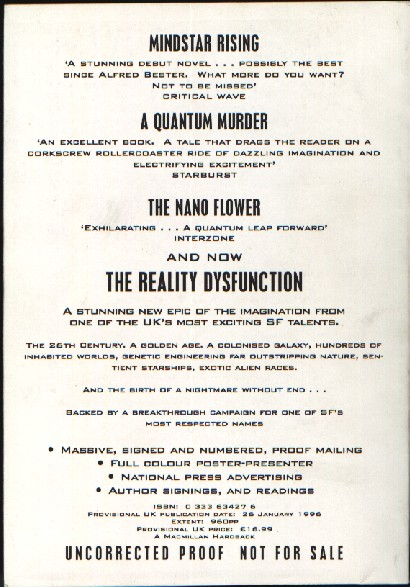 The Reality Dysfunction - back